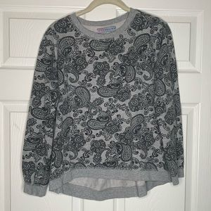 Mad Design | Gray | Paisley | Pullover | Sweater
